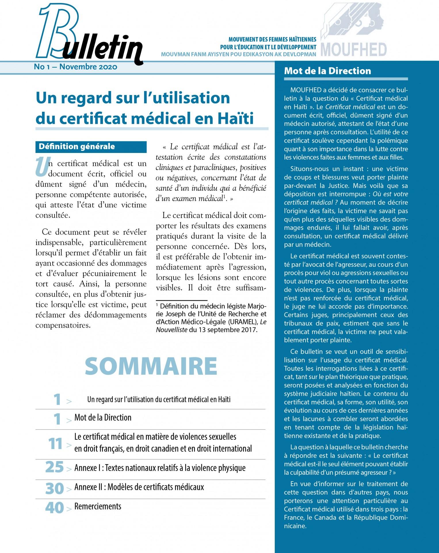 Bulletin no1_MOUFHED_ASF
